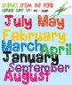 Calendar Super Set - Clip Art Graphics for Teachers Classrooms