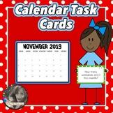Calendar Task Cards - A Year Long Math Center