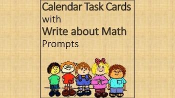 Calendar Task Cards for Math Center
