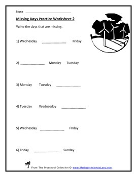 Calendar Teacher Worksheet Pack - Days of the Week, Monthly Calendars
