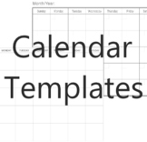 Calendar Template FREE