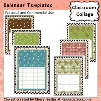 Calendar Template  personal & commercial use