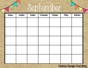 Calendar Template (without numbers)