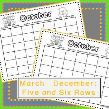 Calendar: REUSABLE Templates