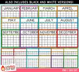 Calendar Templates Clip Art