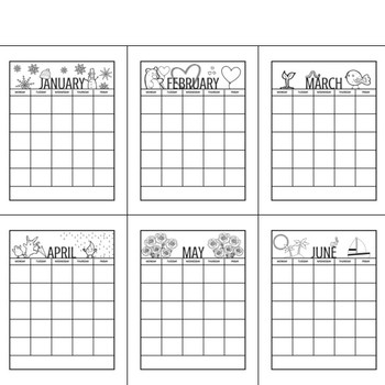 Calendar Templates - Editable Monthly Calendars and Letterheads