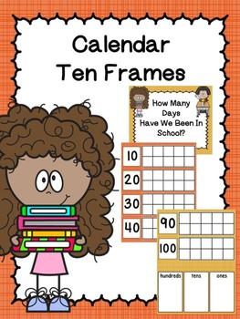 Calendar Ten Frames Autumn Linen Dollar Deal