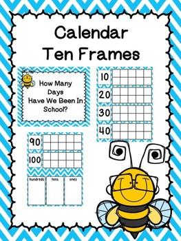 Calendar Ten Frames Bee Theme