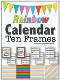 Calendar Ten Frames - Rainbow Variety