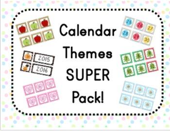 Calendar Themes SUPER Pack!!