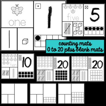 Ten Frames and Shapes- Bee Theme