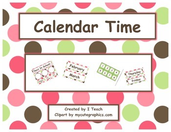 Calendar Time ~ Polka Dots Brown
