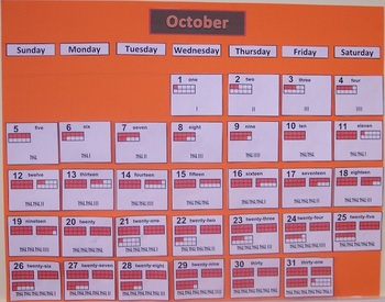 Calendar Time Activity--Calendar Glooeys