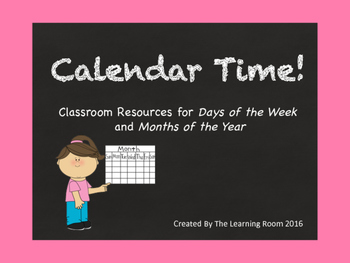 Calendar Time! Days of the Week and Months of the Year Cards (with numbers)