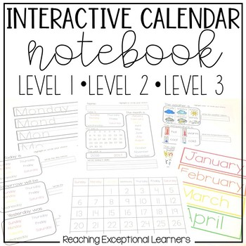 Interactive Leveled Calendar Time for Special Education