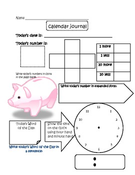Calendar Time Journal 3- Concept Review