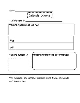 Calendar Time Journal 4- Concept Review