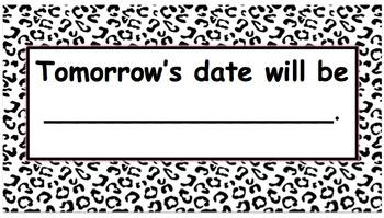 Calendar Time ~ Leopard Print B & W