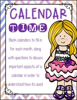 Calendar Time:  Monthly Calendar practice