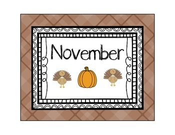 Calendar Time - November