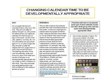 Calendar Time- Pieces for a Linear Calendar