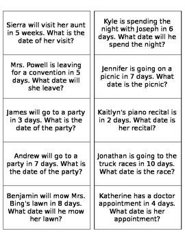 Calendar Time Questions