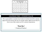 Calendar Time! - Student Fill-In