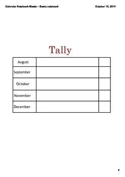 Calendar Time Student Notebook
