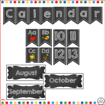 Calendar Time Wall Kit (editable) with Black and white