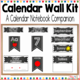 Morning Calendar Time Wall Kit (editable) with Chalkboard Black and White