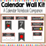 Calendar Time Wall Kit (editable) with Red Polka Dot