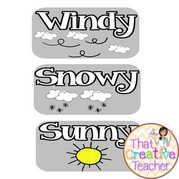 Calendar Time Weather Chart