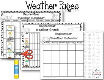 MORNING WORK Calendar Time Worksheets - September