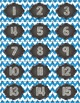 Calendar Toppers & Dates II {Blue Chevron} Back to School Printables