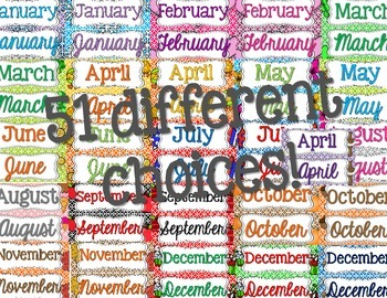 Calendar Toppers [for the whole year!]