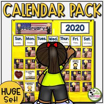 Calendar ULTIMATE Set For The Year {for Pocket Chart}