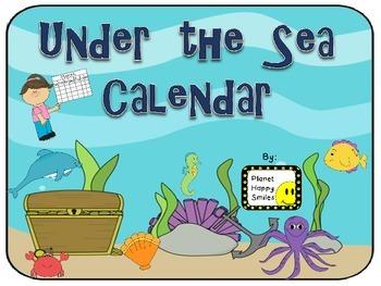 Calendar ~ Under the Sea (Ocean)