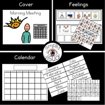 Calendar Using Interactive Supports for a Mini Binder