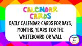 Calendar Visual Timetable Cards (Rainbow)