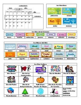 Calendar Vocabulary List