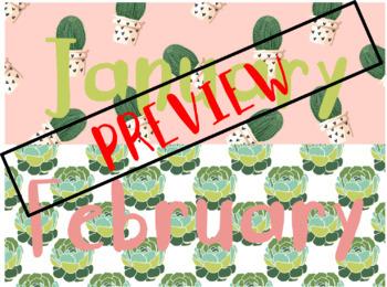 Calendar Poster Wall Kit – Cactus