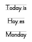 Calendar Wall Labels (English and Spanish)