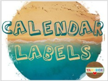 Calendar Wall Labels - Ocean / Beach