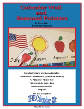 """Calendar Wall and Seasonal Pointers plus """"Months of the Ye"""