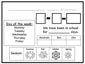 Calendar Warm Up