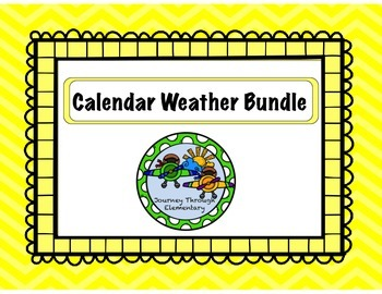 Calendar Weather Bundle YELLOW
