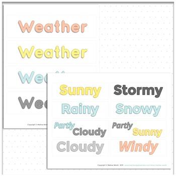 Bulletin Board Weather Cards