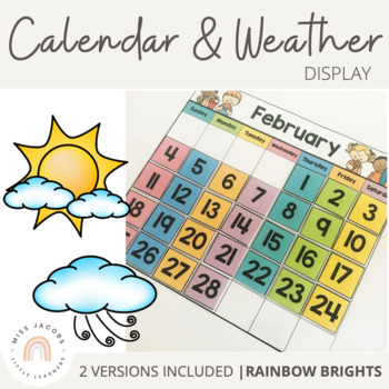Calendar & Weather Display {Rainbow Classroom Decor}