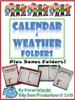 Calendar & Weather Folders Plus Bonus Folders