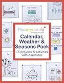 Calendar, Weather & Seasons Pack for Preschool, PreK, and